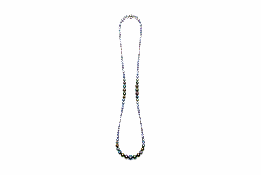 Multi-Color 3 Point Gradation Necklace