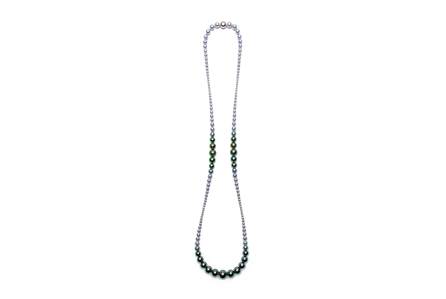 3 Point Gradation Pearl Necklace